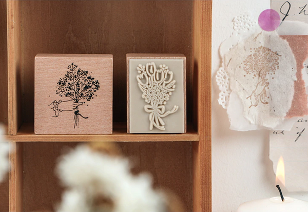 Flower Bouquet Wooden Stamps