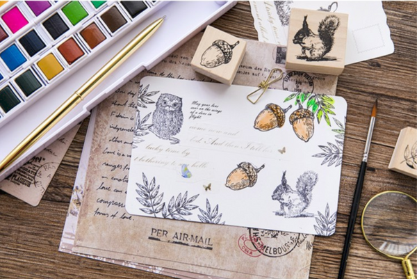Forest Life Wooden Stamp 12