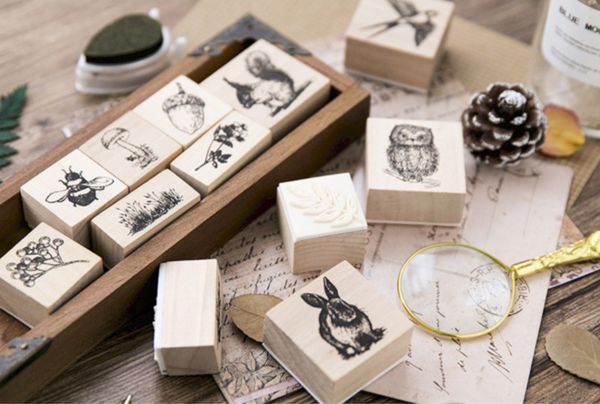 Forest Life Wooden Stamp 7