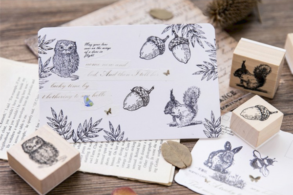 Forest Life Wooden Stamp 14