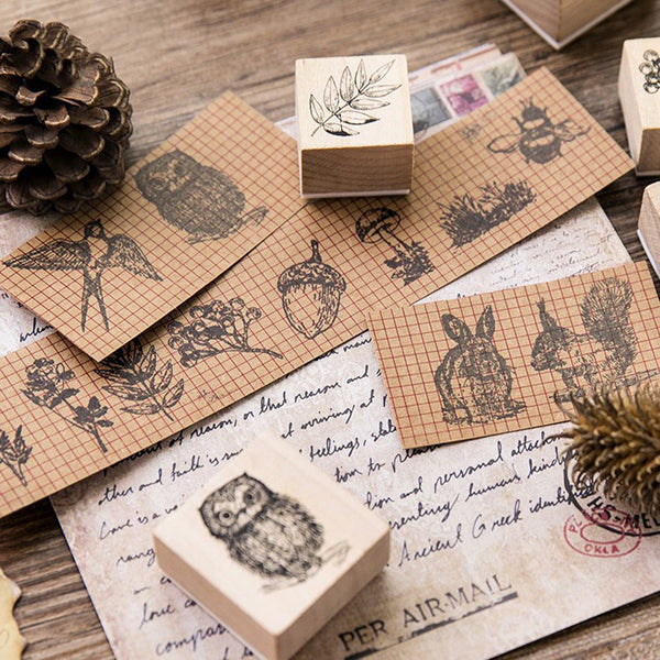 Forest Life Wooden Stamp 2