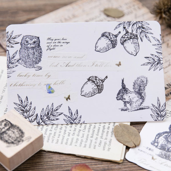 Forest Life Wooden Stamp 4