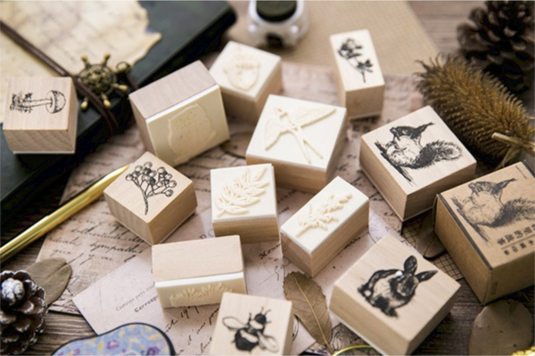 Forest Life Wooden Stamp 6