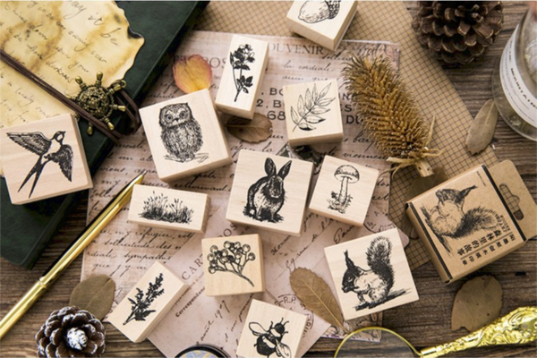 Forest Life Wooden Stamp 17