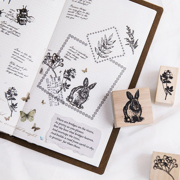 Forest Life Wooden Stamp 3