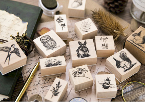 Forest Life Wooden Stamp 16