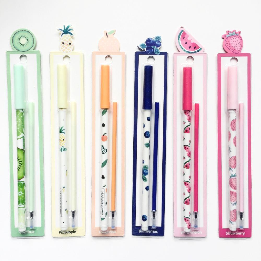Fruit Party Gel Ink Pen Set + Refills 2