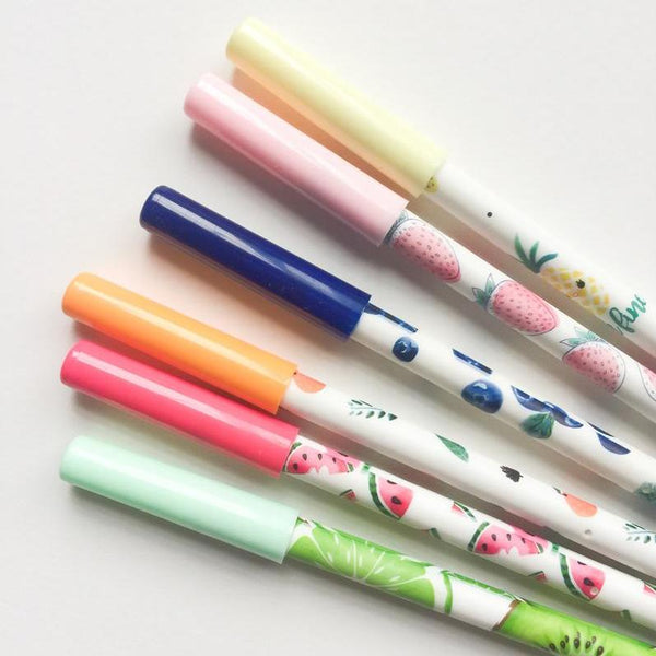 Fruit Party Gel Ink Pen Set + Refills
