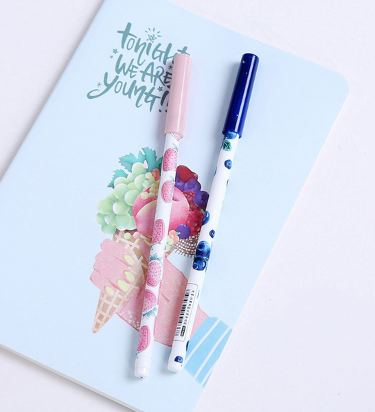 Fruit Party Gel Ink Pen Set + Refills 8