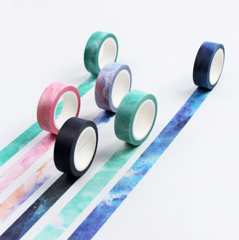 Galaxy Masking Tape 7-pack Full Set 2