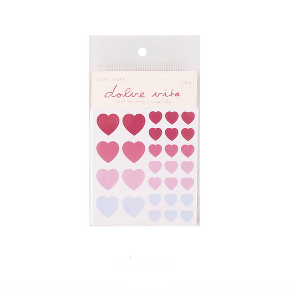 Gradient Color Heart Stickers