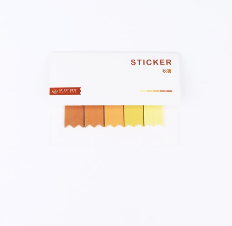 Gradient Color Index Sticky Notes 16