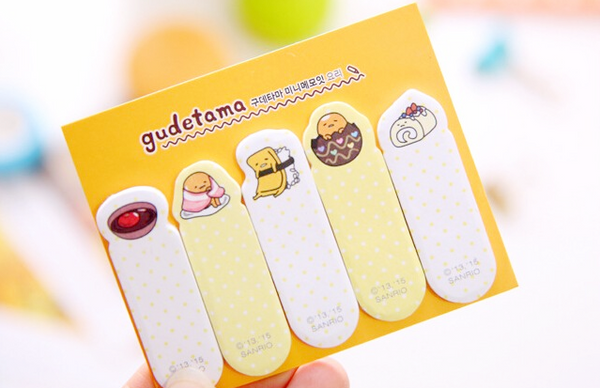 Gudetama Index Sticky Notes Orange