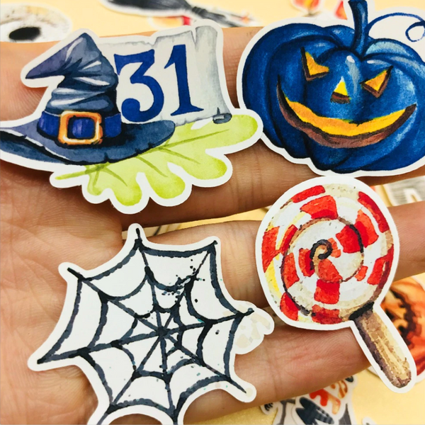 Spooky Halloween Paper Stickers - Limited Edition