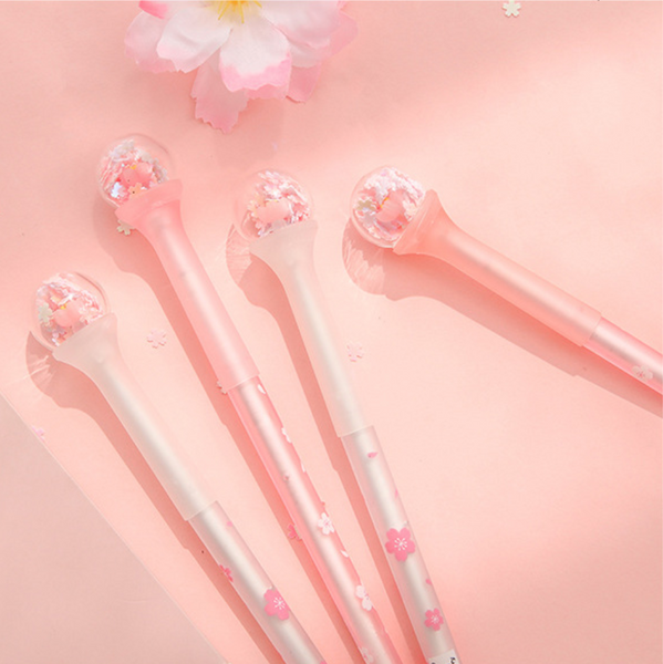 Hanami Sakura Ball Charm Gel Pen
