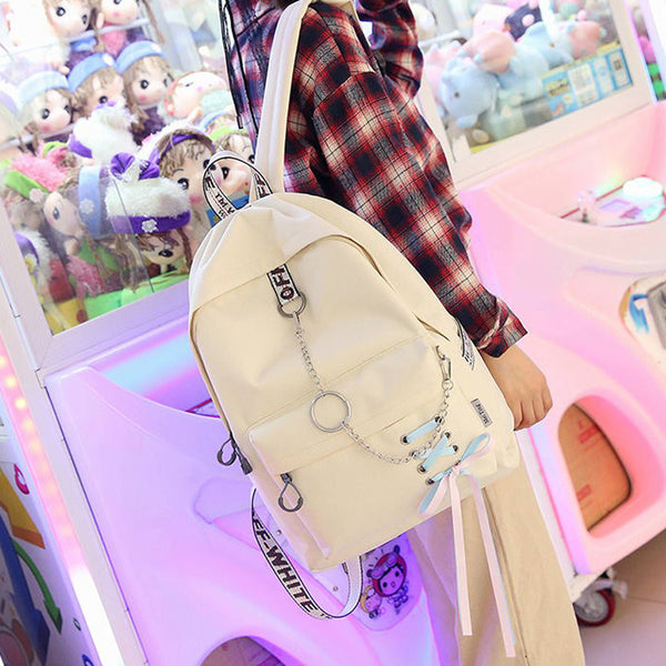 Kawaii Harajuku Style Backpack School Travel Bag for Girls Kids Female