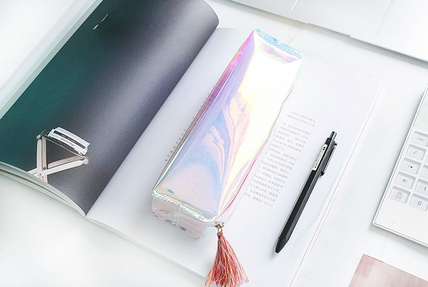 Shine Like Rainbows Holographic Pencil Case 10