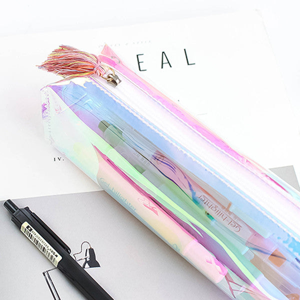 Shine Like Rainbows Holographic Pencil Case