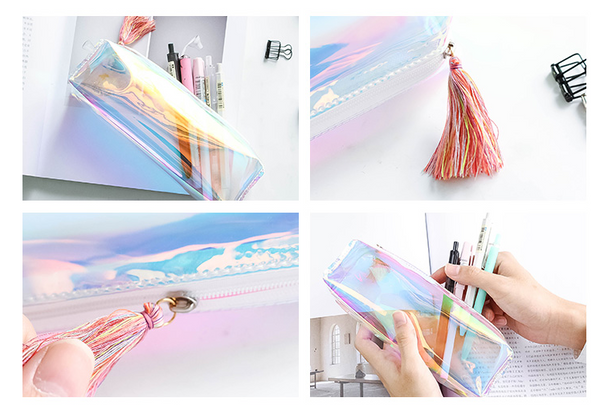 Shine Like Rainbows Holographic Pencil Case 6