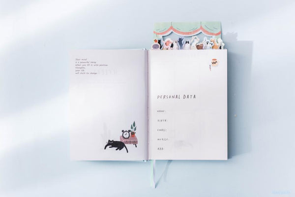 'Home Is Where the Cat Is' Undated Study Work Planner Journal Diary Scheduler Notebook