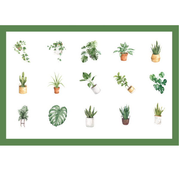 House Plant Paper Stickers