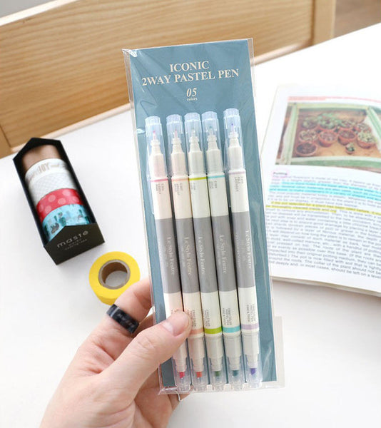 Iconic Dual Pastel Pen Set 8