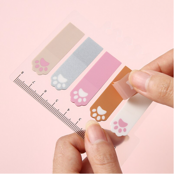 Insertable Index Cat Paw Sticky Notes