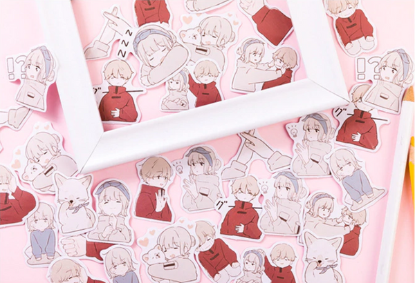 It's Love Paper Stickers