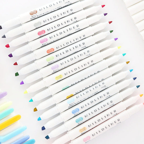 5 Zebra Mildliner Double-Sided Highlighters