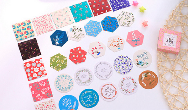 Japanese Decorative Paper Sticker Set: Flowers 4