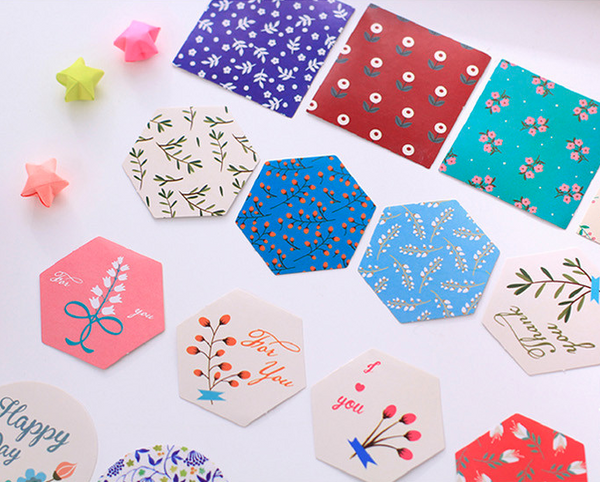 Japanese Decorative Paper Sticker Set: Flowers 2