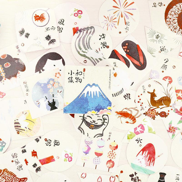 Little Japan Decorative Paper Sticker Set: Fuji