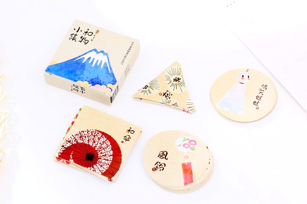 Japanese Decorative Paper Sticker Set: Fuji 6