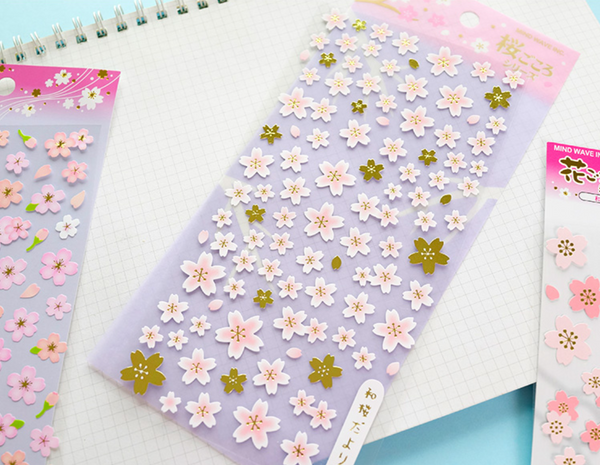 Japanese Sakura Cherry Blossom Stickers 4