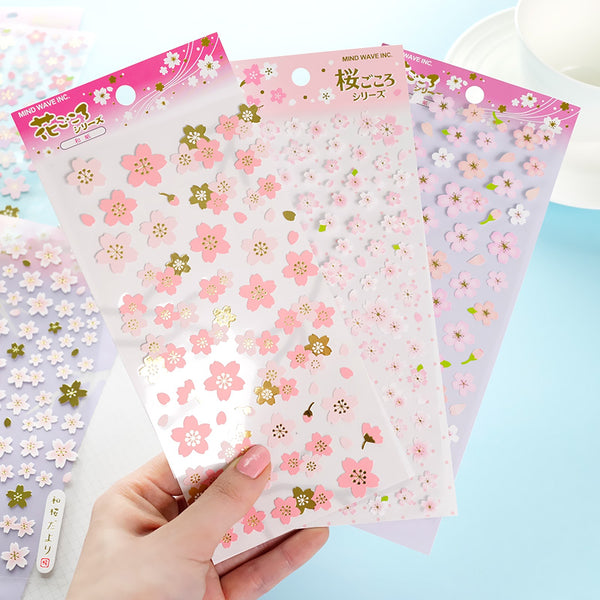 Japanese Sakura Cherry Blossom Stickers
