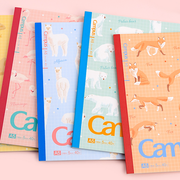 KOKUYO Campus Notebook - Semi B5 - Grid - Fluffy Animals