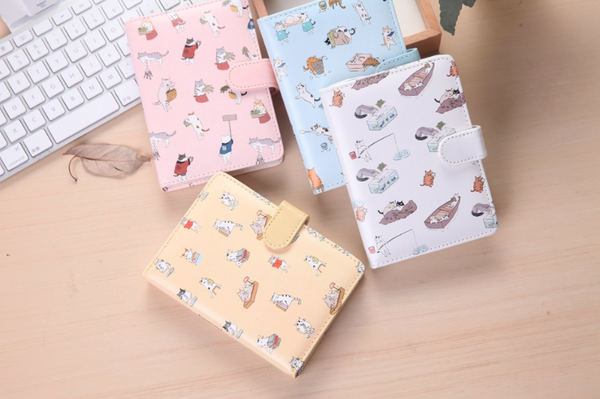 Kawaii Cat Leather Notebook 14
