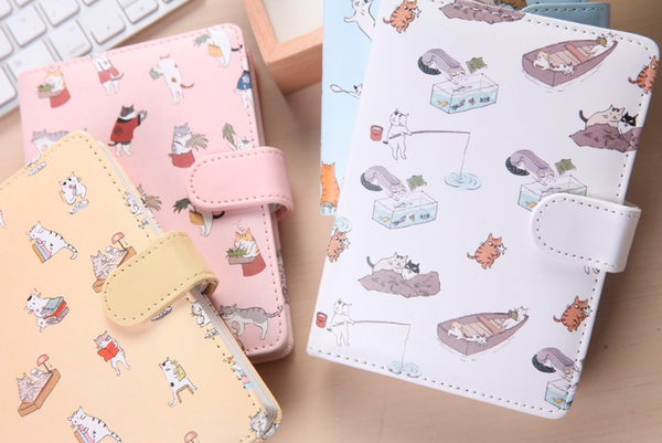 Kawaii Cat Leather Notebook 12