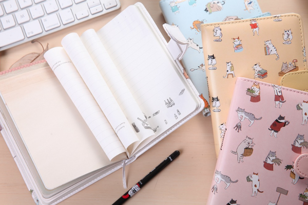 Kawaii Cat Leather Notebook 8
