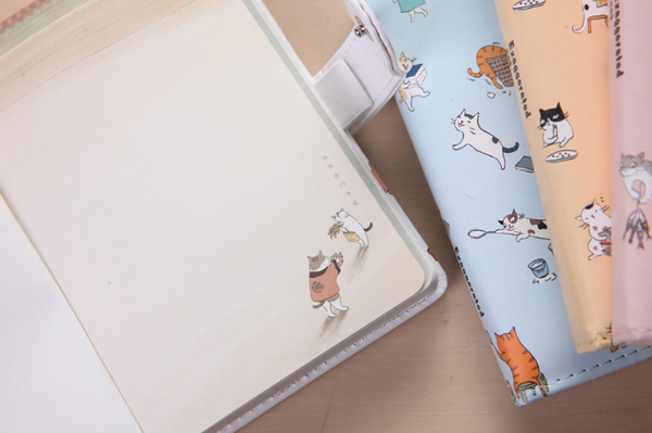 Kawaii Cat Leather Notebook 5