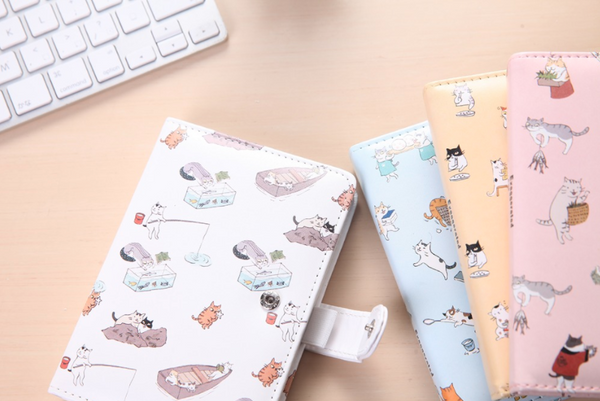 Kawaii Cat Leather Notebook 10