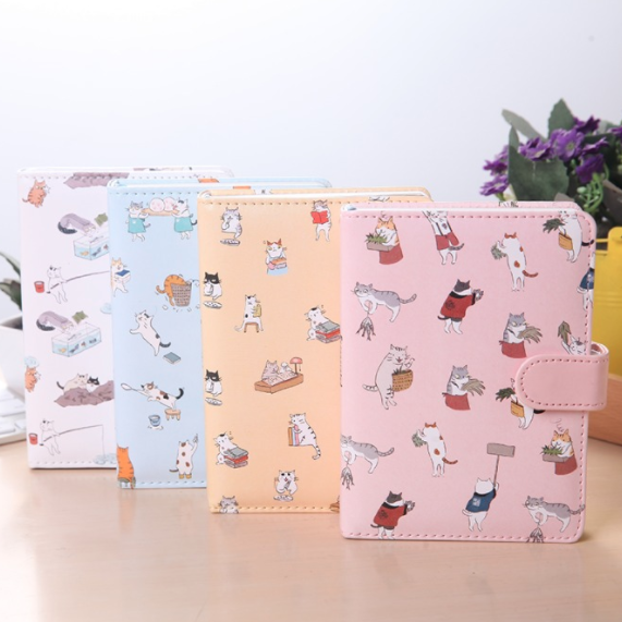 Kawaii Cat Leather Notebook 4