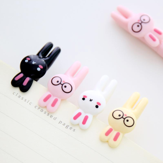 Cute Rabbit Gel Ink Pen 4 Pack on Writing A Design