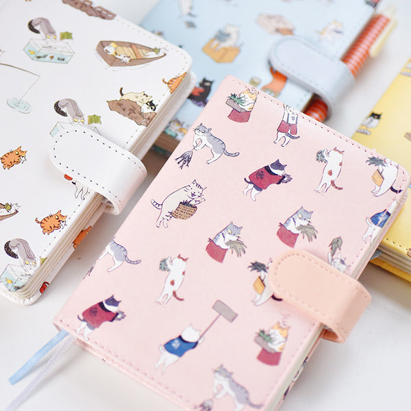 Kawaii Cat Leather Notebook