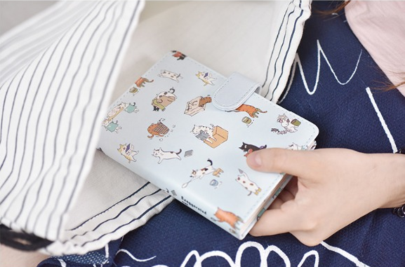 Kawaii Cat Leather Notebook 20