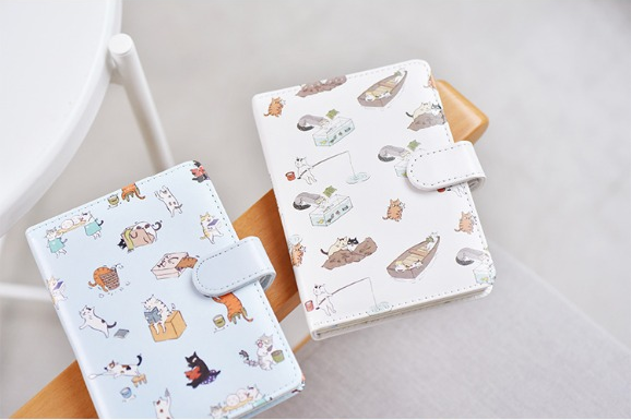 Kawaii Cat Leather Notebook 21