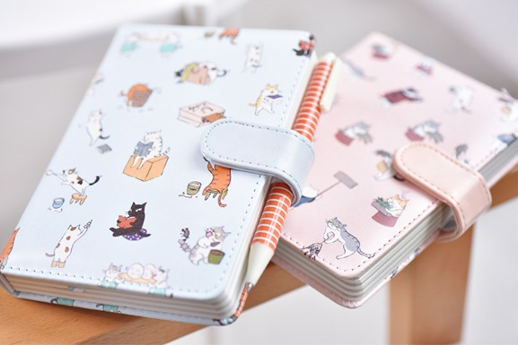 Kawaii Cat Leather Notebook 22