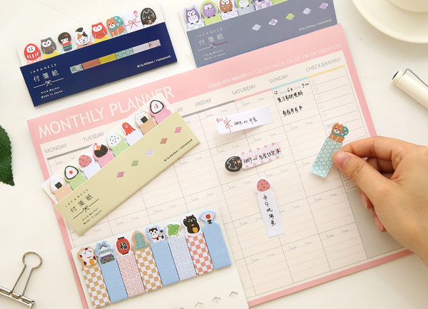 Kawaii Japanese Index Sticky Note Set 2