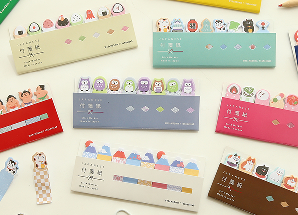Kawaii Japanese Index Sticky Note Set 12