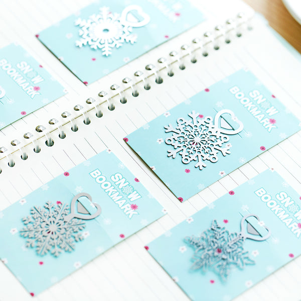 Metal Snowflake Bookmark